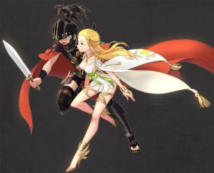 Dragon Nest Airs and Fronia by ZiyoLing