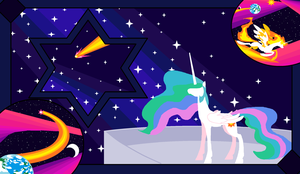 Wish Upon a Star, Celestia Twilight by FoldawayWings