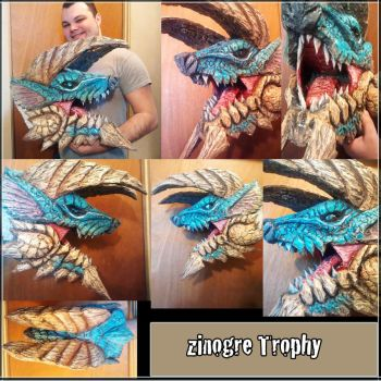 Monster Hunter Zinogre head by joshuasmith85