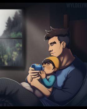 Dream Daddy - Quiet Evening by SabraeTrash