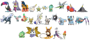 Pokemon Sun/Moon Shinies (1-25)