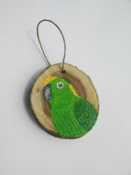 Yellow Naped Amazon Ornament by MadalynC