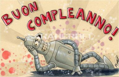 Greeting card Futurama_2013 by SARAHCROFT