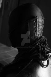 Leather neck corset by Ange1ica