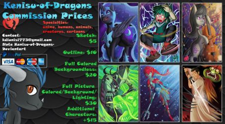 KOD Commission Prices 2018 by Kenisu-of-Dragons
