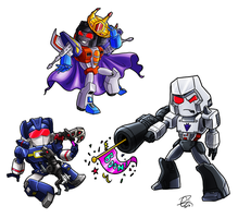 Decepticon Chibi Set by Laserbot