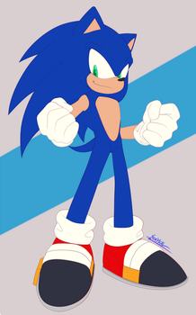 Commission 1 - Sonic by SinykaL