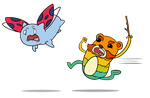 Catbug and Impossibear by MDStudio1