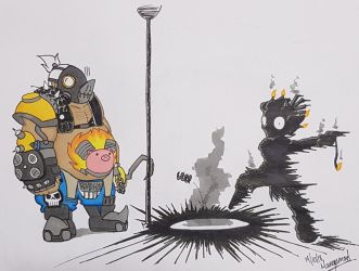 Inktober 2018 Day 19 Scorched [UPDATED] by Mangamad