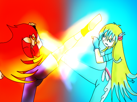 The Ocean Archer VS The Princess of Fire by DrSpencerReidBietch