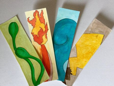 Pokemon Bookmarks (Starters) by starksandlannisters