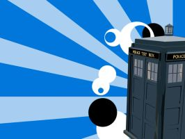 The Tardis vectorized by ashweez