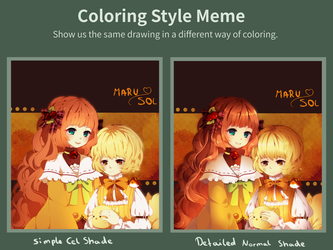 Coloring style Meme: FREE Psd and Png by Maruuki