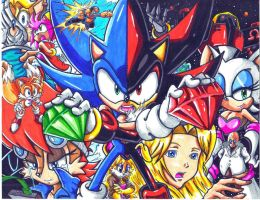 sonic and shadow WHO WE PROTECT CL by trunks24
