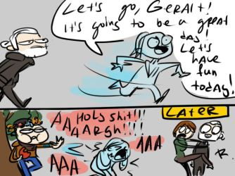 The Witcher 3, doodles 63 by Ayej