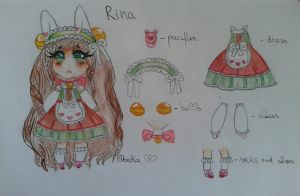 New Oc Rina (please read)  by bakagummi