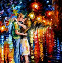 Last Kiss by Leonid Afremov by Leonidafremov