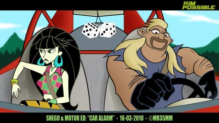 Shego and Motor Ed  Car Alarm by mr35mm