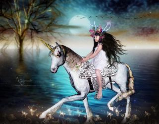 My Riding Unicorne horse by annemaria48
