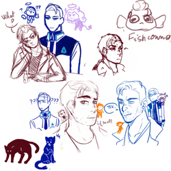 Drawpile with friends (mostly DBH )?/6 by Elyxen