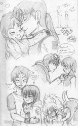 [Sketchbook] Have some cute Ereri by Mariana-Souza