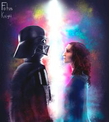 'What have I become' Darth Vader and Padme by FotusKnight