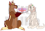 Bakin' and Cakin' (Smol late B-day gift for kevy) by BittyMillie