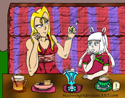 OCs Hang Outs: Cherry and Hayley: Talk and Dessert by Halowing