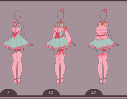 10 - Outfit Design Adopt - [CLOSED] by Llamarsio