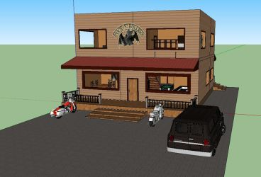 RnR Clubhouse in Google Sketchup by deppfan85