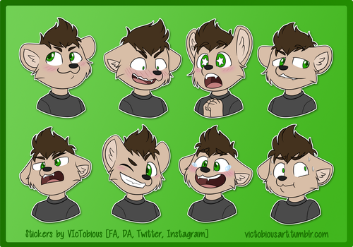 [commission] Telegram stickers: Lance by VIcTobious