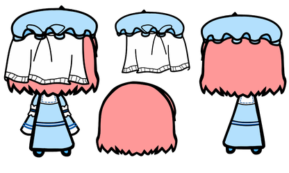 Yuyuko Back Prop Set by Reimu-and-Cirno