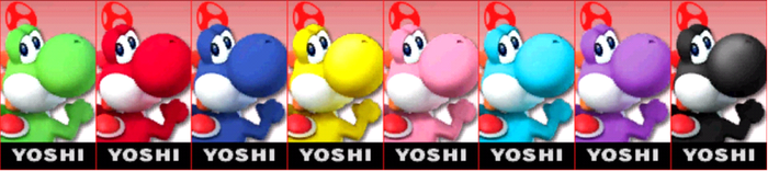 SSB4: Yoshi Comtuse (player) by TheZeldaFan22