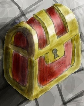Link to the Past Chest (My first digital painting) by BLTspirit