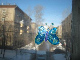 Blue butterfly by saysly