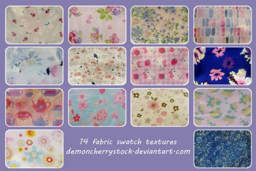 Fabric texture pack by DemoncherryStock