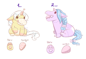 (open) Unisaur Adopts  by LobaMagica