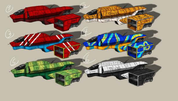 Space Ship paint jobs by EOTB