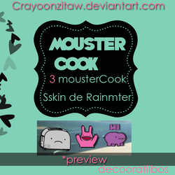 MousterCOOKS skin de Rainmeter by CrayoonzitAw