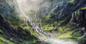 Waterfall Valley by LyntonLevengood