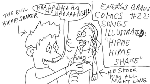 EBC #22: Songs Illustrated -- Hippie Hippie Shake by EnergyBrainComics