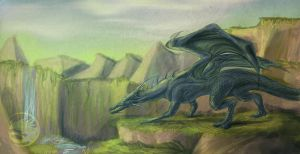 One More Blue Dragon To... by Seleylone