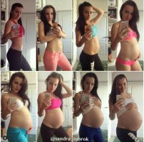 Pregnant Before And After 1 by preggofan74