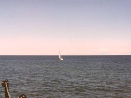 Sailboat on Lake Michigan by AndrewT