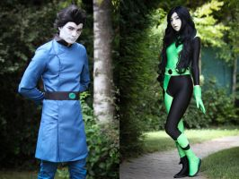 Dr. Drakken and Shego Cosplay (from Kim Possible) by Kiyomi-Cosplay