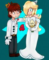Rosalina And Michael Wedding [Commission] by Luna2528CP
