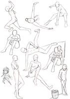 Poses sketches by keishajl
