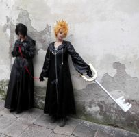 Roxas and Xion - Bounded fates by Achico-Xion