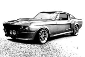 Shelby Mustang GT500 by autodrawings