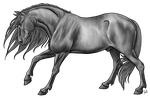 Stallion Lineart by urilium greyscale by AquaSalt